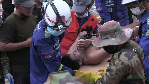 Two Survivors Pulled From Collapsed Building in Cambodia