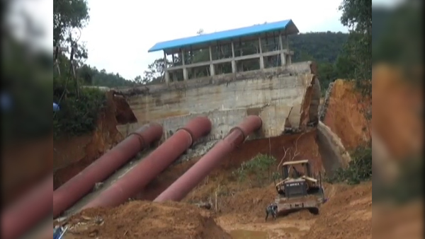 Dam Break Due to Heavy Rainfall in Laos