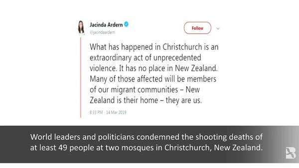 Carnage at Christchurch Mosques