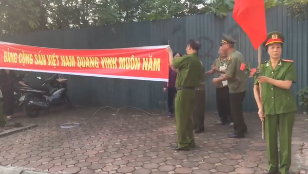 Police Stage Rare Land Protest in Hanoi