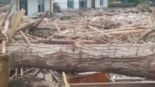 북중 국경지역 홍수 피해
