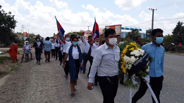 Cambodian Police Stop Marchers From Commemorating Outspoken Activist on the Anniversary of His Murder