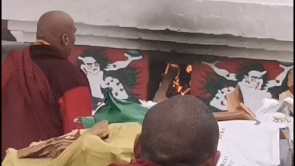 Cremation Ceremony for Tibetan Religious Leader