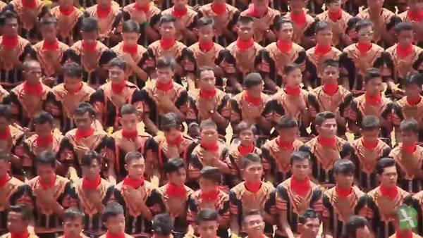 12 Ribu Lebih Penari Saman Catat Rekor Dunia