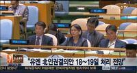 유엔총회 북 인권결의안 18∼19일 처리