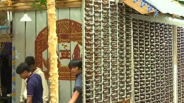 A Cambodian Café Build from Rubbish