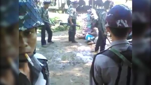 Myanmar Detains Four Police over Rohingya Beating Video