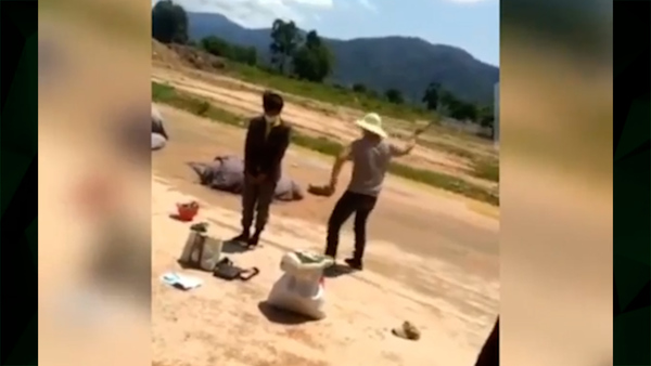 Lao Workers Beaten for Violating COVID Restrictions