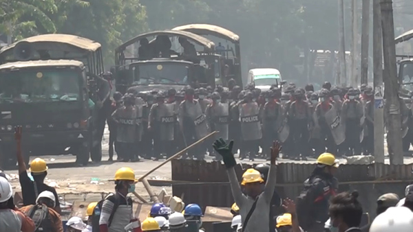 Security Forces Open Fire on Anti-Coup Protesters in Yangon