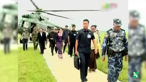 Myanmar's Aung San Suu Kyi Visits Conflict-Torn Rakhine State