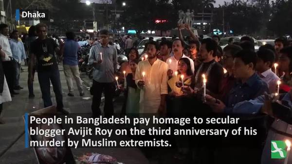 Bangladeshis Remember Slain Blogger Avijit Roy