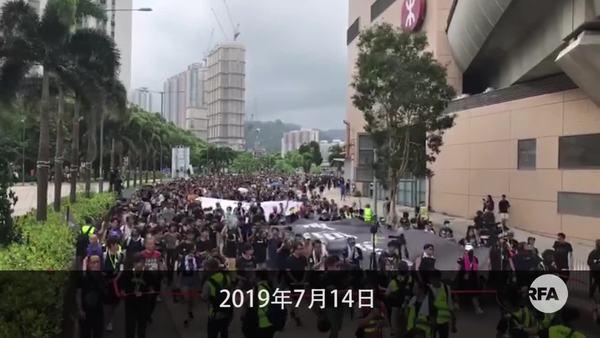 沙田反送中游行后爆冲突   警察与示威者商场肉搏