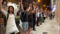 Hong Kong Protesters Form Human Chain for Democracy