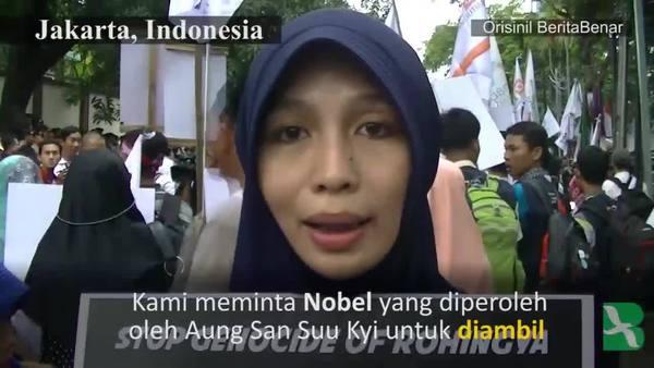 Kaum Muslim Asia Memprotes Kekerasan Terhadap Rohingya
