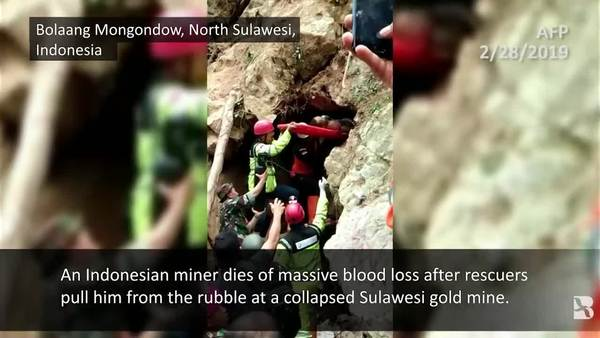 Indonesians Scramble to Save Trapped Gold Miners