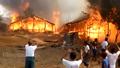 Blaze Rips Through Rohingya Displacement Camp