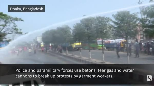 Bangladesh Police Use Force on Garment Worker Protests