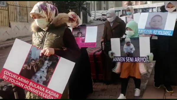 Uyghur Mothers March in Turkey, Seeking Information About Children Detained in China