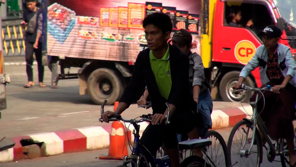 Bicycles Become Common on Yangon Streets