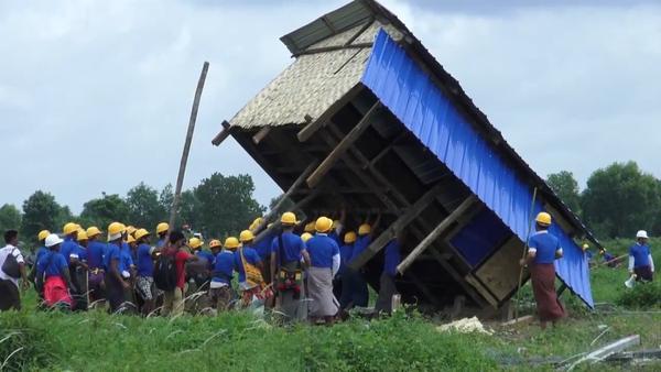 Myanmar Authorities Demolish Shantytown