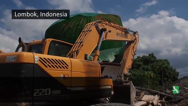 Ongoing Aftermath in Lombok Island