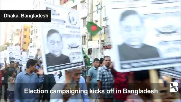 Campaigning under way for Bangladesh polls