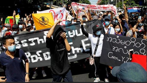 Pop-Up Protests Erupt in Myanmar on 100th Day Since the Military Coup