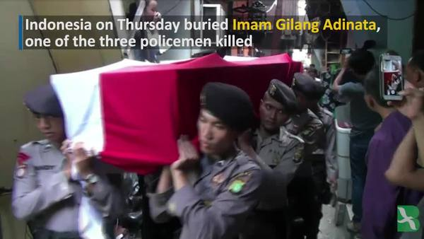 Indonesia Holds Funeral for Cop Killed in Jakarta Bombing