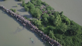 Dramatic Drone Footage Shows Flight of the Rohingya