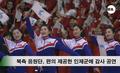 북한 응원단 인제 군민 감사에 공연
