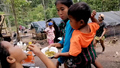 Hundreds of Conflict Refugees Mass on the Thai-Myanmar Border