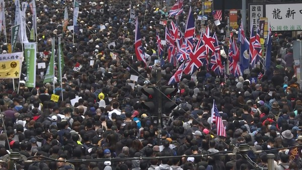 Massive New Year's Day Rally in Hong Kong