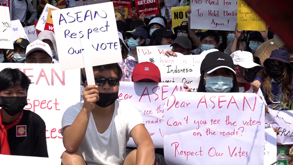 Myanmar Anti-Coup Protesters Urge Indonesia Not to Support Junta