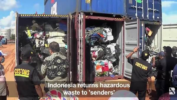 Indonesia Sends Plastic Waste Back to Europe, US
