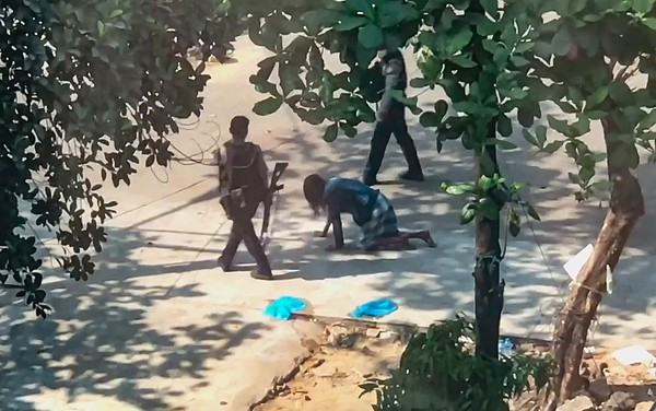Video Shows Myanmar Police Forcing Man to Crawl on Hands and Knees