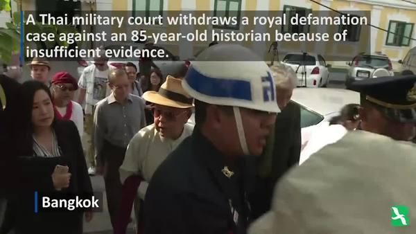 Thai Court Drops Royal Defamation Case Against Historian, 85