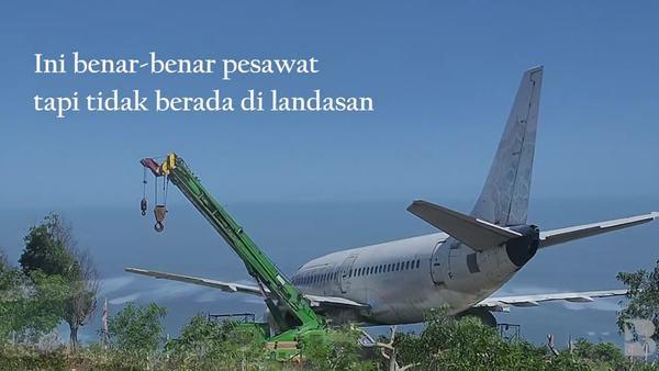Kontroversi Bangkai Pesawat di Tebing Pantai Bali