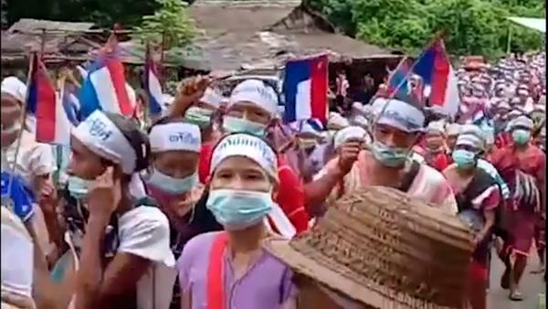 Thousands of Ethnic Karen Protest in Myanmar