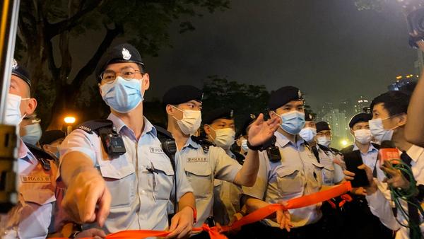 Heavy Police Presence as Hong Kong Marks Tiananmen Anniversary