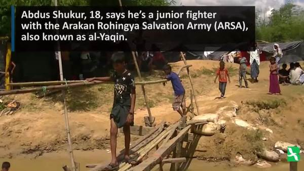ARSA Rebel Shelters in Bangladesh Refugee Camp
