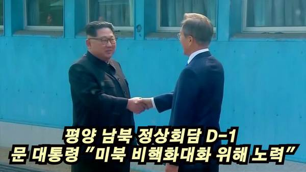 """문 대통령 """"미북 비핵화 대화 위해 노력"""""""