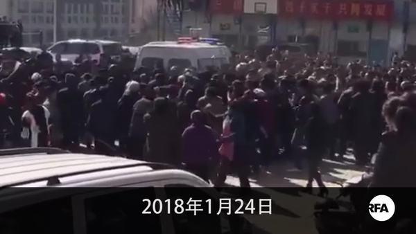 棚屋改造賠償不公  滇近千群眾示威維權與警衝突