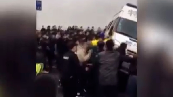 Angry Residents Overturn Police Van During Bridge Clash
