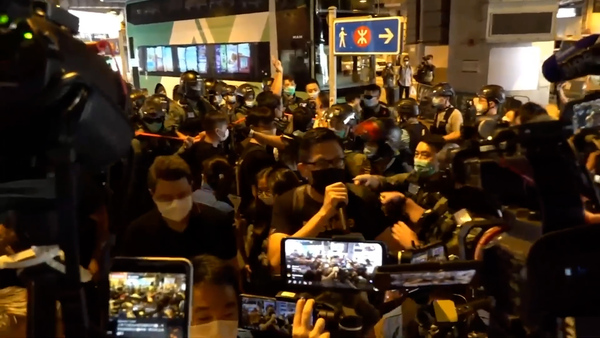 Heavy Police Presence as Protesters Mark One-Year Anniversary of Mob Attack