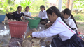 Cambodian Orphans Making Coconut Souvenirs