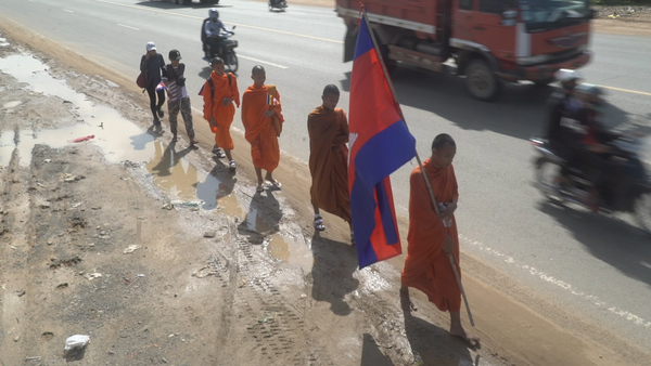 Activists in Cambodia March Against Polluting Casino