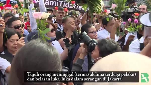 Aksi Solidaritas Pasca Bom Thamrin