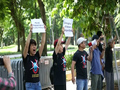 Activists Protest at Chinese Embassy in Hanoi