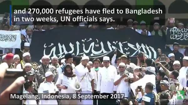 Asians Protest for Rohingya Muslims