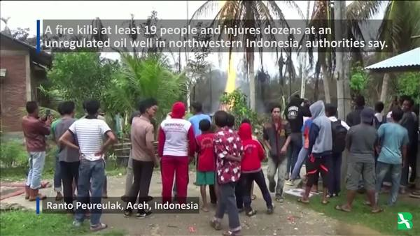 Deadly Fire Breaks Out at Indonesian Oil Well